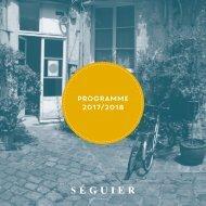 Programme sorties Editions Séguier hiver 2017 - printemps 2018