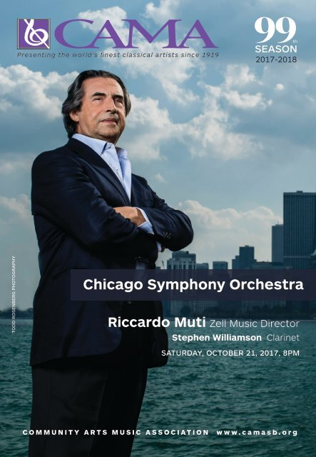 CAMA presents Chicago Symphony Orchestra - October 21, 2017 - International Series at The Granada Theatre