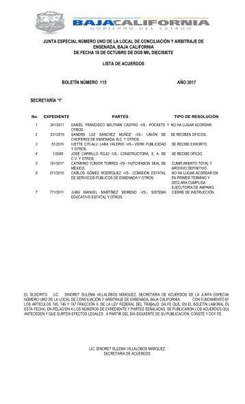 Boletin No. 115-2