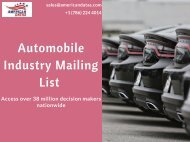 Automobile Industry Mailing List   Auto Dealers Email List   Sales Leads