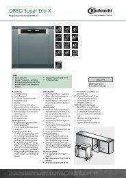 KitchenAid OBBO Super Eco X - OBBO Super Eco X DE (859991028020) Scheda Prodotto