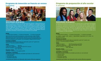 CSA Programas y tarifas 2018-2019
