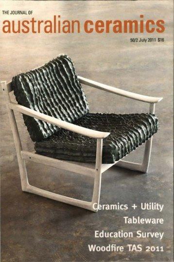 The Journal of Australian Ceramics Vol 50 No 2 July 2011