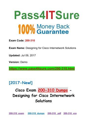New Pass4itsure Cisco 200-310 Dumps PDF 453q offered