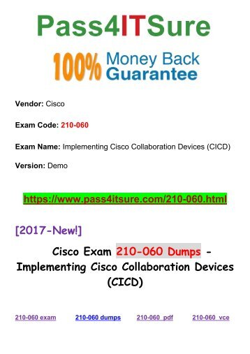 New Pass4itsure Cisco 210-060 Dumps PDF Free Share