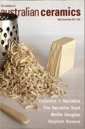 The Journal of Australian Ceramics Vol 50 No 3 November 2011