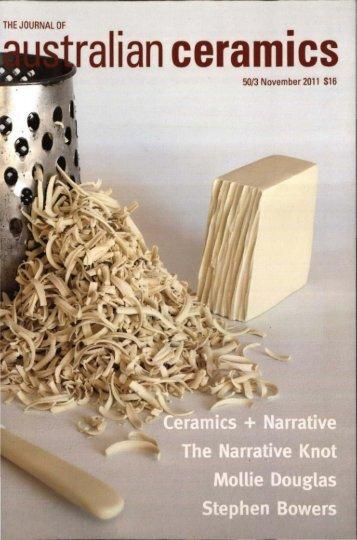The Journal of Australian Ceramics Vol 50 No 3 November 2011