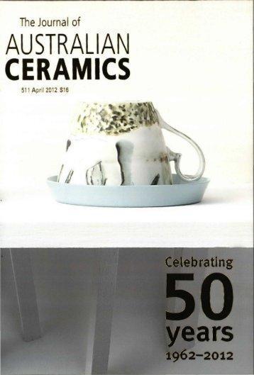 The Journal of Australian Ceramics Vol 51 No 1 April 2012