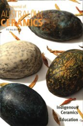 The Journal of Australian Ceramics Vol 51 No 2 July 2012