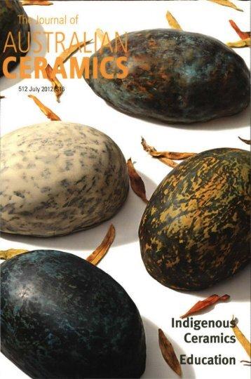 The Journal of Australian Ceramics Vol 51 No 2 July 2012