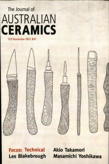 The Journal of Australian Ceramics Vol 51 No 3 November 2012