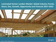 Global Laminated Veneer Lumber Market Share, Size, Trends and Forecast 2017-2022