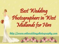 Best Wedding Photographers in West Midlands for Hire