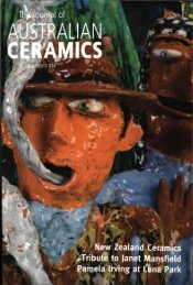 The Journal of Australian Ceramics Vol 52 No 1 April 2013