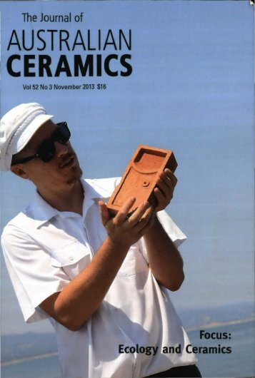 The Journal of Australian Ceramics Vol 52 No 3 November 2013