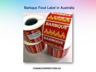 Barbque food label in Australia - Chameleon Print