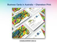 Business Cards in Australia - Chameleon Print
