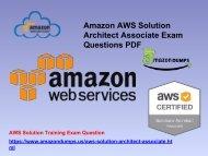 AWS Exam PDF | AWS Solution Architect Associate Questions Answers - Amazondumps.us
