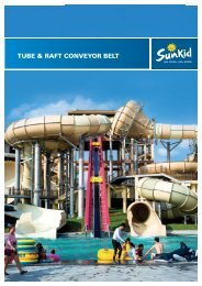 Sunkid Tube and Raft Conveyor Belt for Water Parks