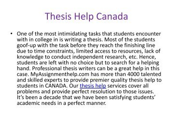Thesis Help Online At Low Price From MyAssignmenthelp.com