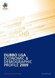 DUBBO LGA Economic & DEmographic profilE