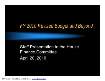 FY 2010 - State of Rhode Island General Assembly
