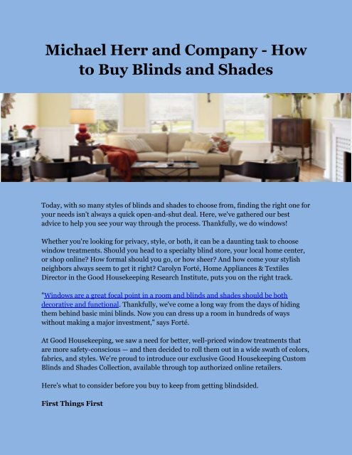 Cheapest Place To Buy Blinds.Michael Herr And Company How To Buy Blinds And Shades