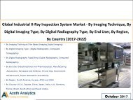 Global Industrial X-Ray Inspection System Market (2017-2022)