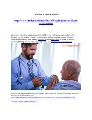 Vaccination at Home Hyderabad