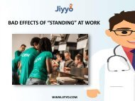 "Bad Effects Of ""Standing"" At Work"