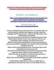 UOP POL 115 Week 5 Political Parties