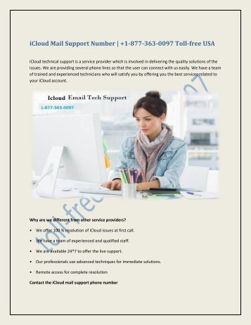 iCloud Mail Support Number 1-877-363-0097 Toll-free USA