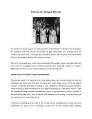 Planning of a Vineyard Marriage