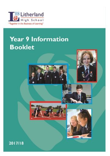 LHS Year 9 Information Booklet 2017-18