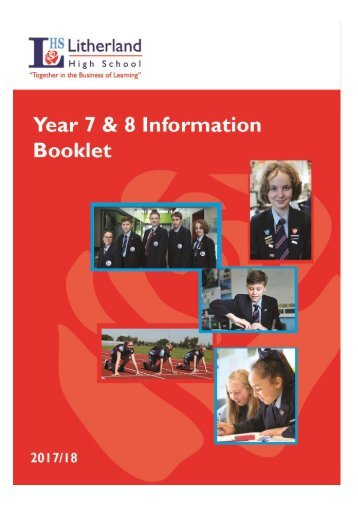 LHS Year 7 & 8 Information Booklet 2017-18