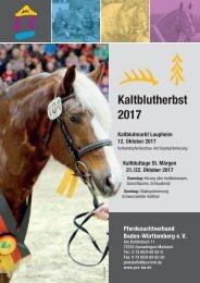 Kalblutherbst 2017: Körung St. Märgen - Stutenschau Laupheim