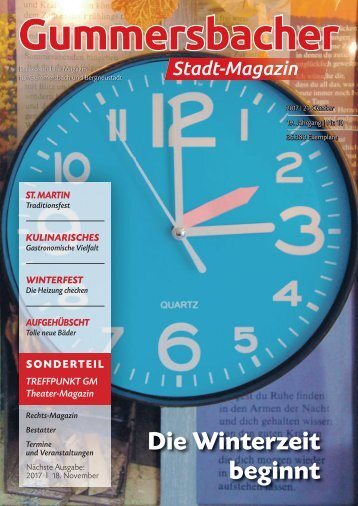 Gummersbacher Stadtmagazin Oktober 2017
