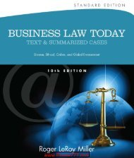 Business Law Today Standard Text and Summarized Cases