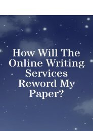 How Do the Online Writing Services Will Reword My Paper?