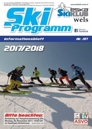 Skiclub Wels Programm 2017/18