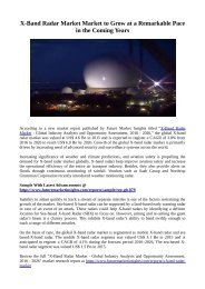 X-Band Radar Market Market to Grow at a Remarkable Pace in the Coming Years