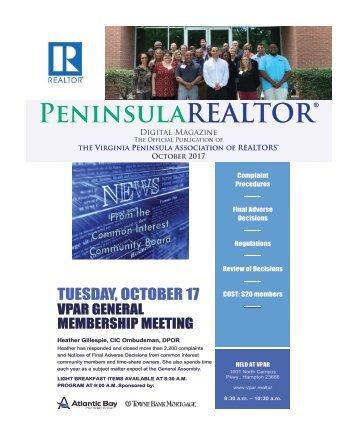 Peninsula REALTOR® October 2017