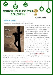 Which Jesus Do You Believe In? - Olivia White