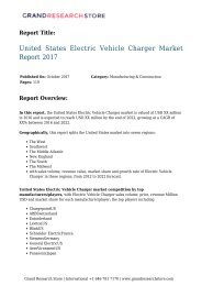 United States Electric Vehicle Charger Market Report 2017