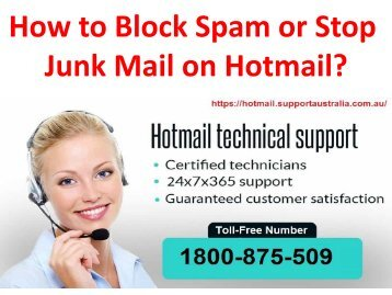 How to Block Spam or Stop Junk Mail on Hotmail?