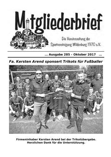 Ausgabe 285 - Oktober 2017