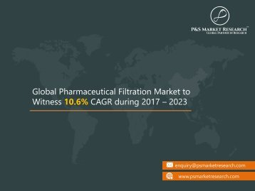 North America in Pharmaceutical Filtration Market to Witness the Highest Growth Globally, Forecast 2023