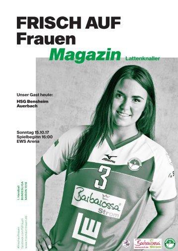 """Ausgabe 1 - Saison 2017/2018 - FRISCH AUF Frauen Magazin """"LATTENKNALLER"""""""