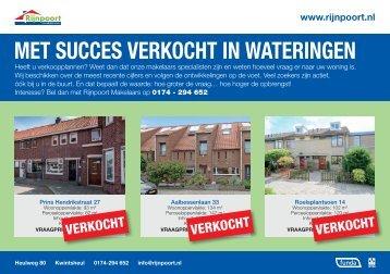 Met succes verkocht in Wateringen, door Rijnpoort Makelaars